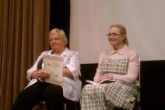 Reading Panel: Vicky Hinshaw and Holly Bern (photographer Sara Okey)