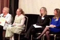 The reading panel of Vicky Hinshaw, Holly Bern, Elisabeth Lenckos and Karen Doornebos