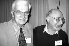 Speaker Joseph Wiesenfarth and Professor William Baker