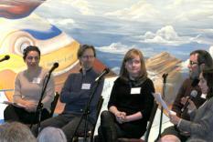 Debra Ann Miller introduces the panel (Margo Malos, Photographer)