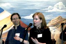 Panelists Phil Timberlake and Laura McClain (Margo Malos, Photographer)