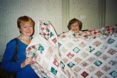 Louise West, Annette Engelhardt and the GCR quilt
