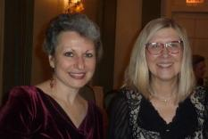 Our speaker Lucia Maura with GCR Program Director, Elisabeth Lenckos (Vicky Hinshaw, Photographer)