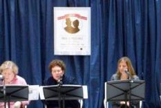 Readers 1-2 pm: Jane Spector Davis, Becky Dolin, Karen Doornebos & Jody Lynn Nye (Debra Ann Miller, Photographer)