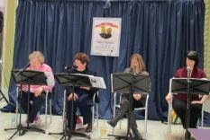 Pride & Prejudice 200th Anniversary Readathon|Readers 1-2 pm: Jane Spector Davis, Becky Dolin, Karen Doornebos & Jody Lynn Nye (Margo Malos, Photographer)