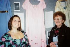 Fancy Regency Era dresses on display