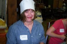 Sandra Bass wearing the turban base