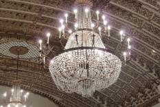 The chandelier in the Millennium's ballroom (Photographer Vicky Hinshaw)