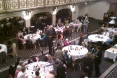 Members gathering at the Crystal Ballroom (photographer Sara Okey)