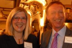 Elisabeth Lenckos, GCR Program Director and Steve Lawrence, Chief Executive Officer, Chawton House Library (photographer Vicky Hinshaw)