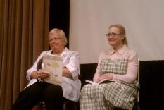 Reading Panel: Vicky Hinshaw and Holly Bern (photographer Sara Okey)