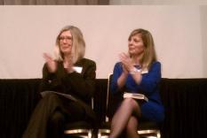 Reading Panel: Elisabeth Lenckos and Karen Doornebos (photographer Sara Okey)