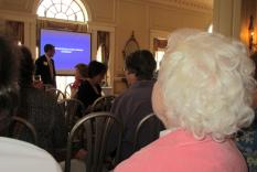 RC Jeff Nigro in front of the Summer Meeting audience (photographer Kathleen Burke)