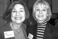 Natalie Goldberg and AGM Volunteer Coordinator, Marianne Newman
