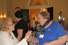 Janet meets the audience members (photographer Kathleen Burke)