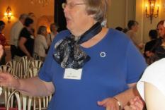 Janet Messmer making a point (photographer Kathleen Burke)