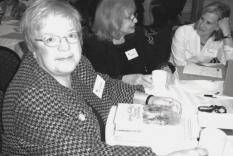 Speaker Victoria Hinshaw, Elinor Midlik and Cathy Feldman