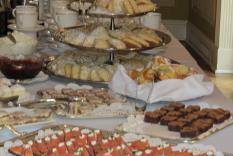 Delicous goodies on the tea table (photographer Kathleen Burke)