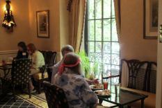 Members enjoying their afternoon tea (photographer Kathleen Burke)