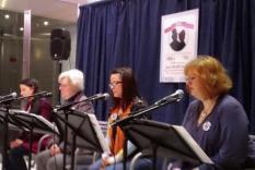 Readers 10-11 am: Valya Dudycz Lupescu, Victoria Noe, Maura Janelle Henn & Madeline Carol Matz (Debra Ann Miller, Photographer)