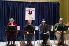 Readers 11 am-Noon: Shirley Holbrook, Judy Chernick, Natalie Goldberg & Larry Santoro (Debra Ann Miller, Photographer)