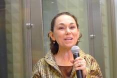 Our emcee and the organizer of the Readathon, Debra Ann Miller