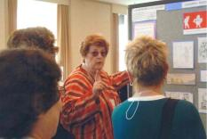 Gene Gill at her poster session