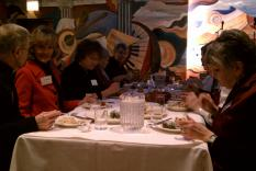 Members enjoying lunch