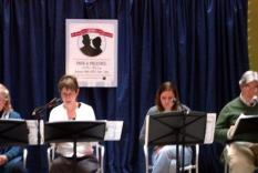 Readers Noon-1 pm: Tycelia Santoro, Liz Cloud, Kathleen Jackson & Larry Santoro (Debra Ann Miller, Photographer)