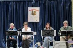 Readers Noon-1 pm: Tycelia Santoro, Liz Cloud, Kathleen Jackson & Larry Santoro (Margo Malos, Photographer)